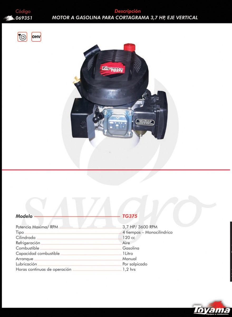 Motor a Gasolina para cortagrama 3,7 hpTG375  069351