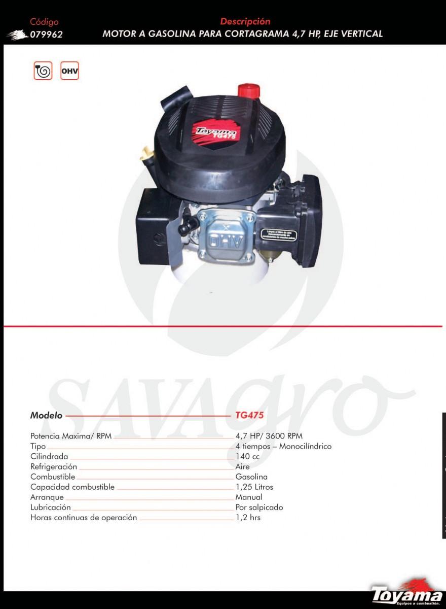 Motor a Gasolina para cortagrama TG475 079962
